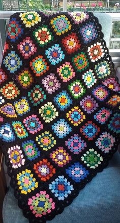 Amazing Amazing Ideas of Crochet Blanket Patterns for 2019 Part Crochet Quilt Pattern, Crochet Ripple Blanket, Crochet Blanket Patterns, Granny Square Pattern Free, Granny Square Crochet Pattern, Crochet Squares, Crochet Designs, Crochet Projects, Crochet Ideas