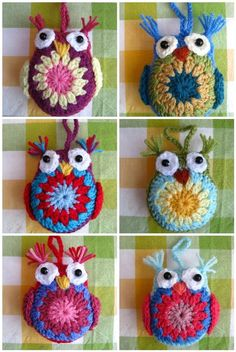 Free Crochet Pattern, Easy Crochet Owl Tutorial...step by step tutorial, these guys are so sweet!
