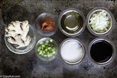 Ingredients for Benihana Ginger Salad Dressing, make this restaurant salad dressing at home.