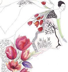 Tulip illustration by Aleona Isakova