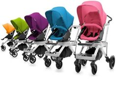 Oh, hello gorgeous strollers of many colors.