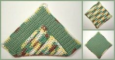 This Crochet Potholder pattern is one of the free beginner crochet patterns, and is part of the free crochet lessons. It is worked completely in Single Crochet.