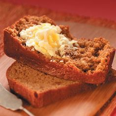 Sweet Potato Bread and Pineapple Butter - sounds a little strange, but it's really a good recipe.  It comes out great every time.