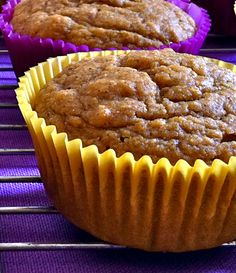 Ginger Spiced Pumpkin Muffins | Made these tonight. Quite healthy! Until I slathered them with pumpkin frosting. :/