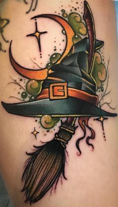 Witch tattoo ideas Goth Guppy Yeni Dizi Witch tattoo ideas Goth Guppy Best Picture For halloween treats For Your Taste You are looking for something and it is going t. Future Tattoos, Love Tattoos, Beautiful Tattoos, Body Art Tattoos, New Tattoos, Small Tattoos, Pretty Tattoos, Black Tattoos, Forearm Tattoos