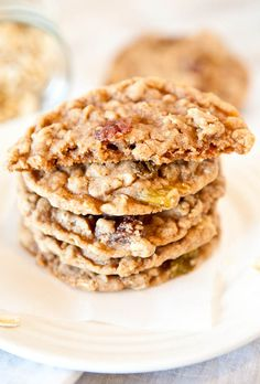 Oatmeal Raisin Cookies.  Soft, chewy, and use a melted butter technique so no mixer required.