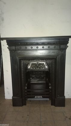 original victorian / edwardian cast iron combination fireplace.READY TO FIT