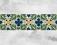 Moroccan Star Border Stencil for Wall Decor by royaldesignstencils