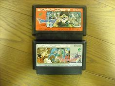 Dragon Quest III & IV 2 game set Famicom Japan NTSC-J Family Compute Enix