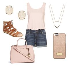 """Untitled #116"" by ilianasofia ❤ liked on Polyvore featuring Pikolinos, Paige Denim, Topshop, Kendra Scott, MICHAEL Michael Kors and Michael Kors"