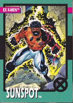 Marvel Super Heroes Sunspot Trading Card - Jim Lee