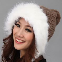 New 2013  Knitted hat Female autumn and winter Fashion Thermal hats for women winter cap $20.89