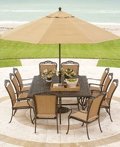 A new outdoor patio set with umbrella and 2 chaise lounge chairs would compliment my backyard in place of the old set we have.