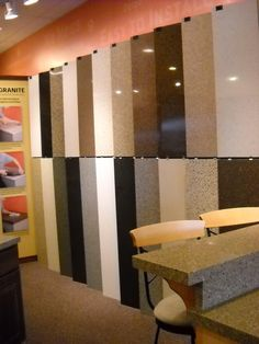 Look at all the colors of Granite and Recycled glass that Granite Transformations of St. Louis has to choose from. Stop by our Chesterfield or Fenton locations to see the colors for yourself, or give us a call today to set up your free in-home design consultation. Our design consultants will bring all the products to your home. Granite Transformations of St. Louis Chesterfield Showroom