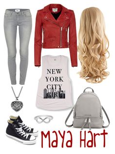 Maya Hart by gmwfashion on Polyvore featuring polyvore, fashion, style, IRO, Paige Denim, Converse, MICHAEL Michael Kors, Jewel Exclusive, clothing, girlmeetsworld and MayaHart