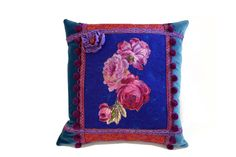 Gypsy Inspired eclectic patchwork pillow by JoJosArtisticDesign
