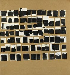 """"""" Pierrette Bloch Untitled, 1974 Collage on Masonite 140 x 138 cm """" Artwork Images, Black And White Abstract, Aboriginal Art, Mark Making, Art Plastique, Painting Inspiration, Painting & Drawing, Paper Art, Contemporary Art"""