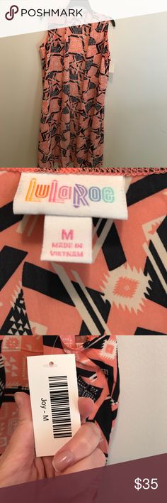 🎉On sale until midnight! 🎉 Medium LACE Joy NWT New with tags! Pink, white, and black LuLaRoe Joy.  Ready to move it. Make me an offer on this colorful piece! LuLaRoe Jackets & Coats Vests