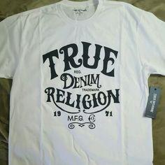 True Religion T-shirt Mens White tee brand new. True Religion Tops Tees - Short Sleeve