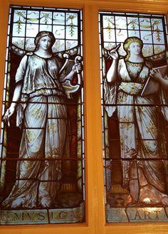 Glass painting - Writers Museum Dublin