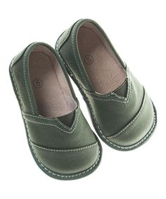 Another great find on #zulily! Olive Squeaker Shoe #zulilyfinds