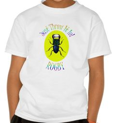 Just Throw It In - Kids' Hanes Rugby T-Shirt. The zany rugby t-shirt for kids that will have the whole team talking. The ideal gift for boys or girls http://www.zazzle.com/just_throw_it_in_kids_hanes_rugby_t_shirt-235920644158471575 #rugby #t-shirt #kidsgift #insects