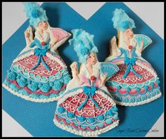 Marie Antoinette Dress Cookies | Cookie Connection