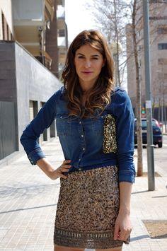 to buy list for fall: glitter skirt.