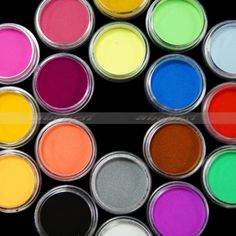36 Color Nail Art Set Sculpture Caving Acrylic by TemptationArt