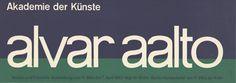 Alvar Aalto. Akademie der Künste, Uhr-Berlin-Hansaviertel.17.3.-7.4.1963.