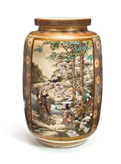 Japanese Vase, Japanese Porcelain, Japanese Ceramics, Clouds Band, Satsuma Vase, Good Whiskey, Chrysanthemum Flower, Crystal Vase, Blooming Flowers