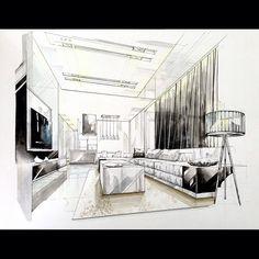 sketch interior design perspective