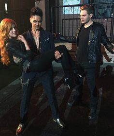 "Clary Magnus and Jace // The Mortal Instruments // Shadowhunters // ABC Family // Shadowhunters TV Series<<< Jace is like ""What the hell man, you are stealing my girl and my scene"""