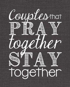PRAY together.