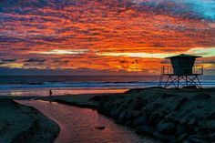 Fiery Sunset at Oceanside - February 4, 2014 by Rich Cruse on 500px