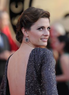 Stana Katic attends the 16th Annual Screen Actors Guild Awards held at the Shrine Auditorium in Los Angeles, California (23-1- 2010).