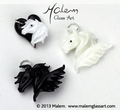 Equine Art by Malem Glass Artist Winged Horse, Equine Art, Clay Creations, Glass Jewelry, Glass Art, Sculptures, Pendants, Horses, Artist