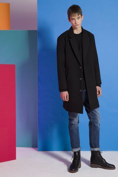 ES. NOCTURNE 2016 F/W Lookbook - Coat Collection 피팅감과 보온성을 모두 신경쓴 Coat Collection Man Fashion, Daily Fashion, Men's Style, Fashion Inspiration, Normcore, Street Style, Guys, Coat, Clothing