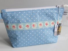 Cath Kidston Blue and White Mini Dot Fabric cosmetic