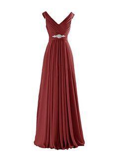 Yougao Women's V Neck A-Line Chiffon Long Floor Length Evening Dress Gown US 4 Burgundy Yougao http://www.amazon.com/dp/B00ZU7B4UI/ref=cm_sw_r_pi_dp_T6.Mvb14KS6T2