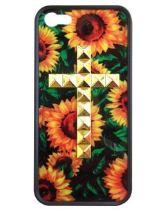 Sunflower Gold Studded Cross iPhone 5 case