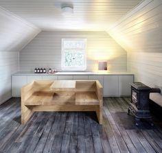 Solid wood tablebench TAFEL by Hans de Pelsmacker in Stählemühle distillery. / www.e15.com #e15 #oak #hospitality