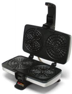 Chef'schoice Pizzellepro 834 Express Electric Pizzelle Maker Black/stainless Steel - Bake an old world favorite right in your own home - and do it faster. The Chef'sChoice PizzellePro bakes two 4 pizzelles in less than 30 seconds. Pizzelle Maker, Pizzelle Cookies, Pizzelle Recipe, Belgian Waffle Maker, Belgian Waffles, Commercial Waffle Maker, Waffle Maker Reviews, Chef's Choice, Specialty Appliances