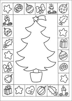 free s christmas tree and coloring pages printable and coloring book to print for free. Find more coloring pages online for kids and adults of free s christmas tree and coloring pages to print. Christmas Cards Drawing, Christmas Tree Cards, Christmas Colors, Xmas Cards, Kids Christmas, Christmas Crafts, Christmas Coloring Pages, Coloring Book Pages, Coloring Pages For Kids