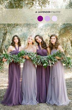 Diferentes tonalidades de lavanda en tu boda una combinación ideal para el otoño.