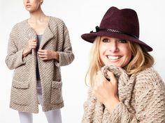 Beige Erica Long Jacket by Joe's from Monet Mazur on OpenSky