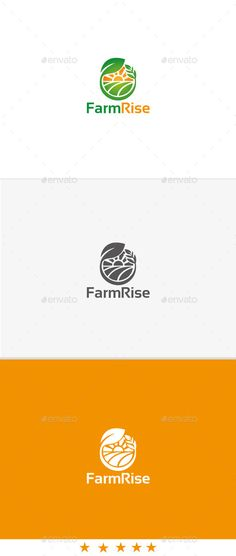 Farm Rise — Vector EPS #logo #seed • Available here → https://graphicriver.net/item/farm-rise/11140393?ref=pxcr