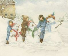 Building A Snowman....winter fun.