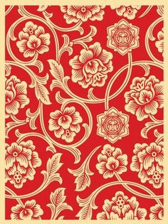 Obey 'Flower Vine' Print Releases ☯☮ॐ American Hippie Psychedelic Art ~ Red Print – OBEY Shepard Fairey street artist . revolution OBEY style, street graffiti, illustration and design posters. Psychedelic Art, Shepard Fairey Art, Textures Patterns, Print Patterns, Obey Art, Kunst Poster, Street Graffiti, Giant Flowers, Flowering Vines