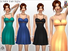 Lovely Day Dress by Devirose at TSR via Sims 4 Updates
